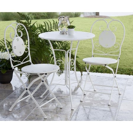 COSCO Outdoor Living 3 Piece Small Space Bistro Patio Set, Table and  Folding Chairs, - COSCO Outdoor Living 3 Piece Small Space Bistro Patio Set, Table And