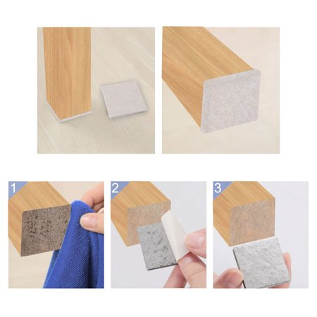 "Felt Furniture Pad Square 1 5/8"" Self Adhesive Anti-scratch Bed Protector 20pcs - image 2 of 7"