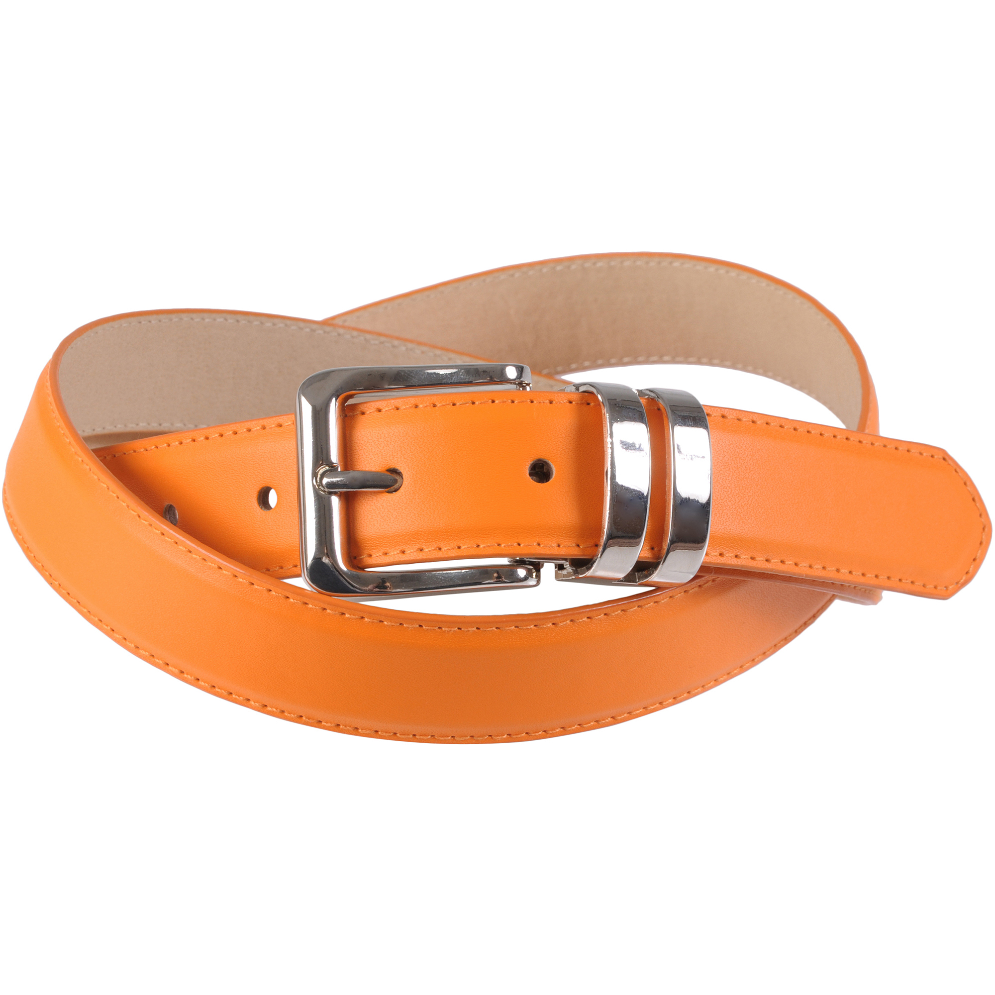 Brinley Co Womens Clamp Buckle Feather Edge Belt