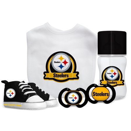 NFL Pittsburgh Steelers 5-Piece Baby Gift (Steeler Gift)