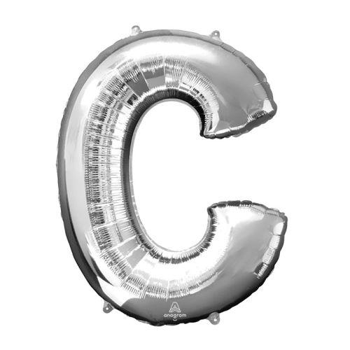 "Burton & Burton 32"" Letter C Silver Balloon"