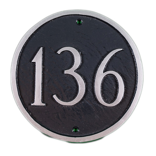 Montague Metal Products Inc. Petite Circle Address Plaque
