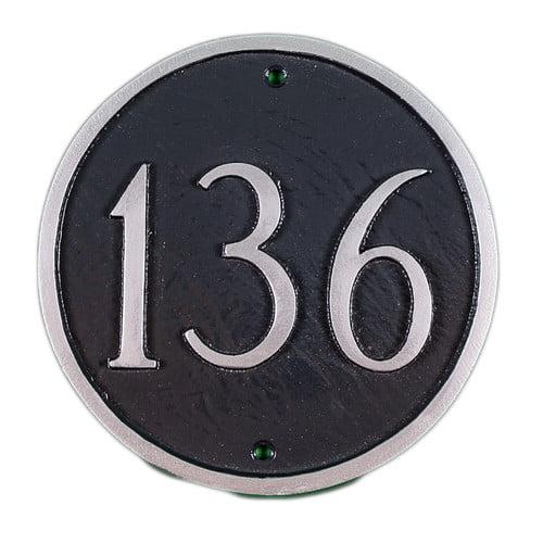 Montague Metal Products Inc. Petite Circle Address Plaque