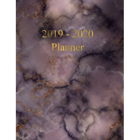 2019 - 2020 Planner: Academic and Student Planner - July 2019 - June 2020 - Weekly and Monthly Planner - Organizer & Diary - To do list - Notes - Month's Focus - Elegant Dark Marble with Gold letterin ()