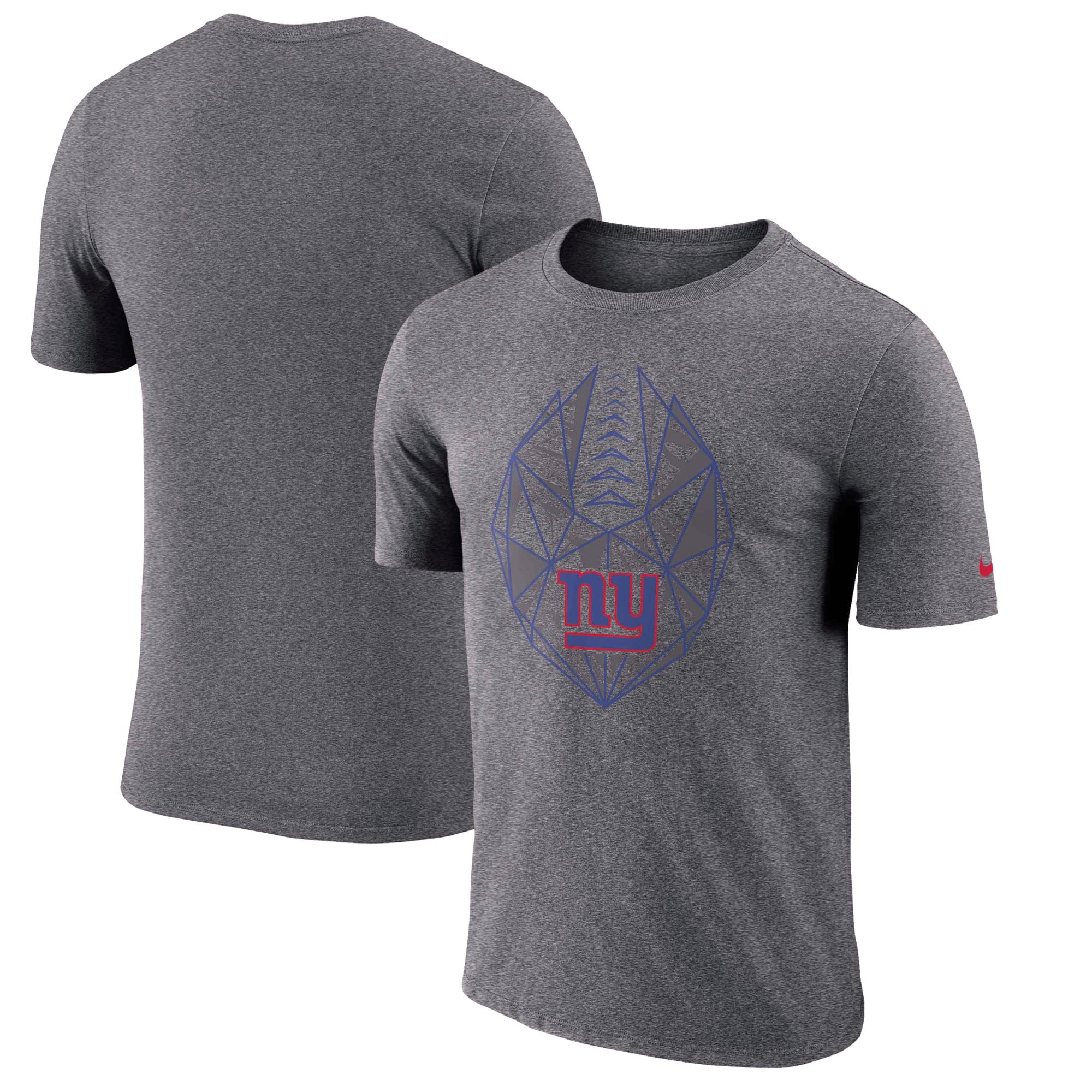 New York Giants Nike Fan Gear Icon Performance T-Shirt - Heathered Charcoal