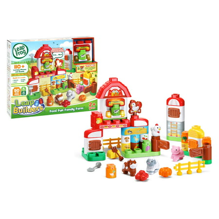 LeapFrog LeapBuilders Food Fun Family Farm With Electronic Smart Star