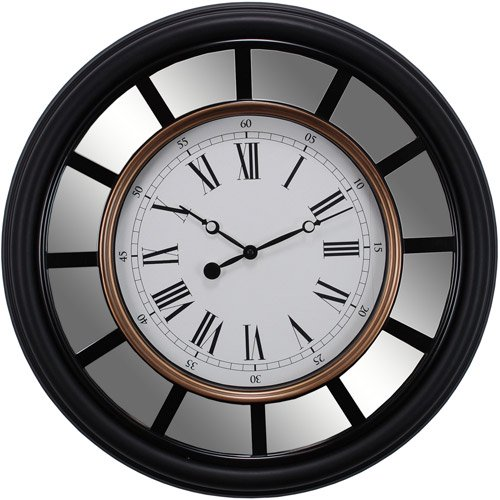 Kiera Grace Vintage Mirrored 22 Quot Wall Clock With Smooth