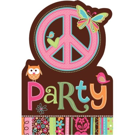 Hippie Chick Invitations w/ Envelopes (8ct)