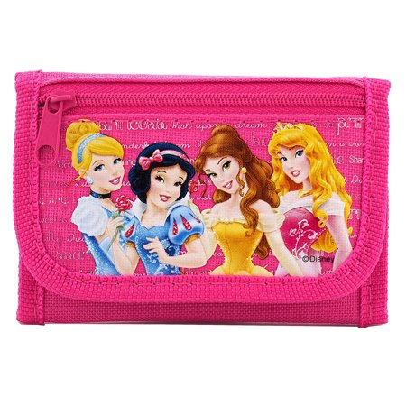 Princess Authentic Licensed Hot Pink Trifold Wallet