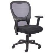 Boss Office & Home Beyond Basics Mesh Adjustable Office Chair, Black