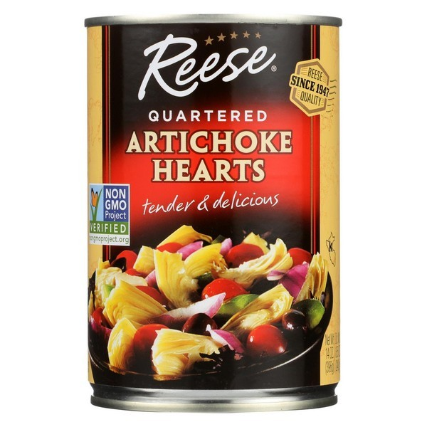 Reese Artichoke Hearts - Quartered - pack of 12 - 14 Oz.