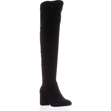 Womens I35 Rikkie2 Wide Calf Knee-High Heeled Boots, Black