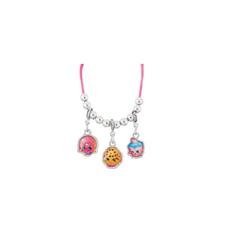 Shopkins 3pc Charm Necklace Clip-On (Cupcake, Donut, Cookie)
