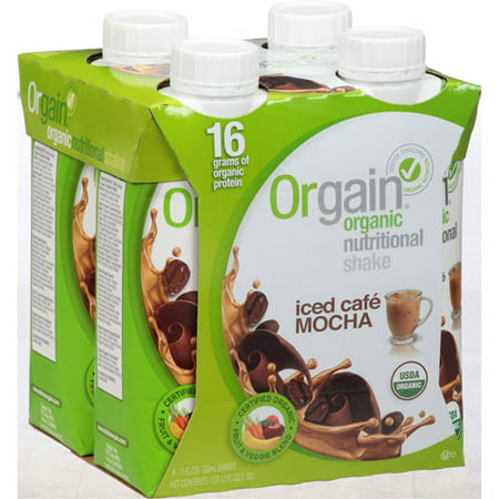 helado Cafe Mocha Orgánica Nutritional Shake de 44 onzas fluidas (Pack de 3)