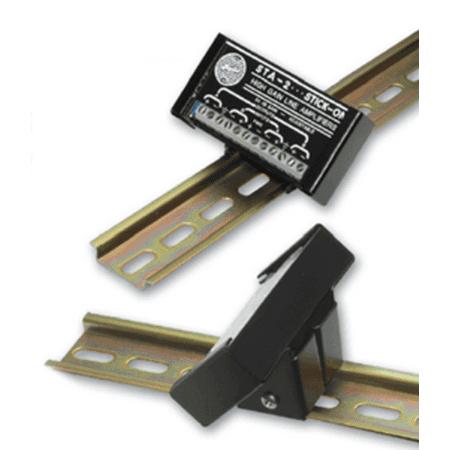 - RDL DRA-35S STICK-ON DIN Rail Adapter - 1 module