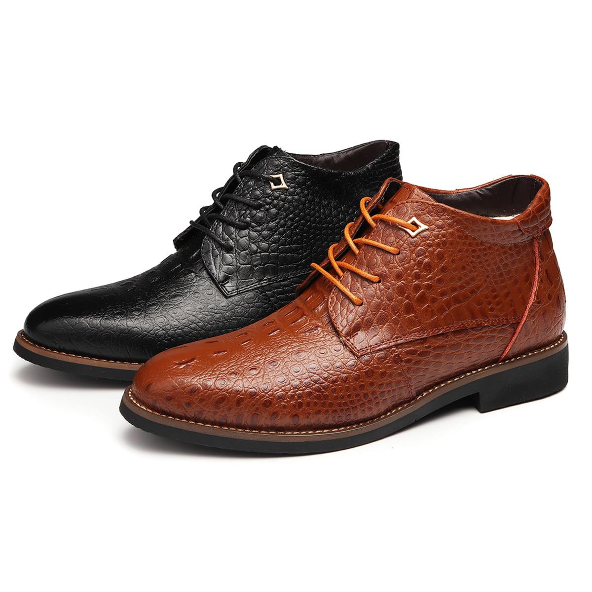 4cb413155 YJP - YJP Fur Winter Warm Men Formal Shoes Snow Boots Leather Waterproof  Rain Snow Flats - Walmart.com
