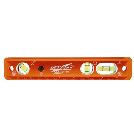 Swanson SAVAGE TLL049M 9-Inch Lighted Magnetic Aluminum Torpedo Level