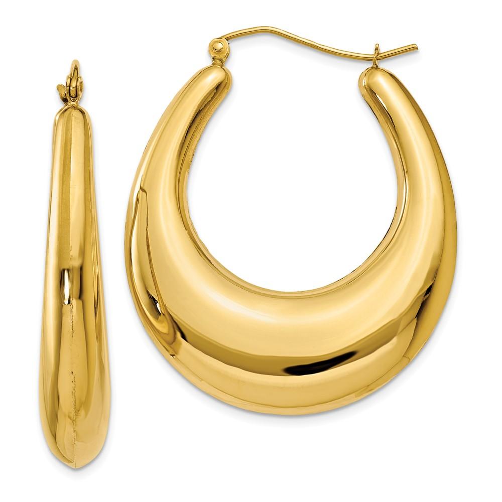 14kt Yellow Gold Hoop Earrings Ear Hoops Set Fine Jewelry For Women Gift Set by IceCarats Designer Jewelry Gift USA