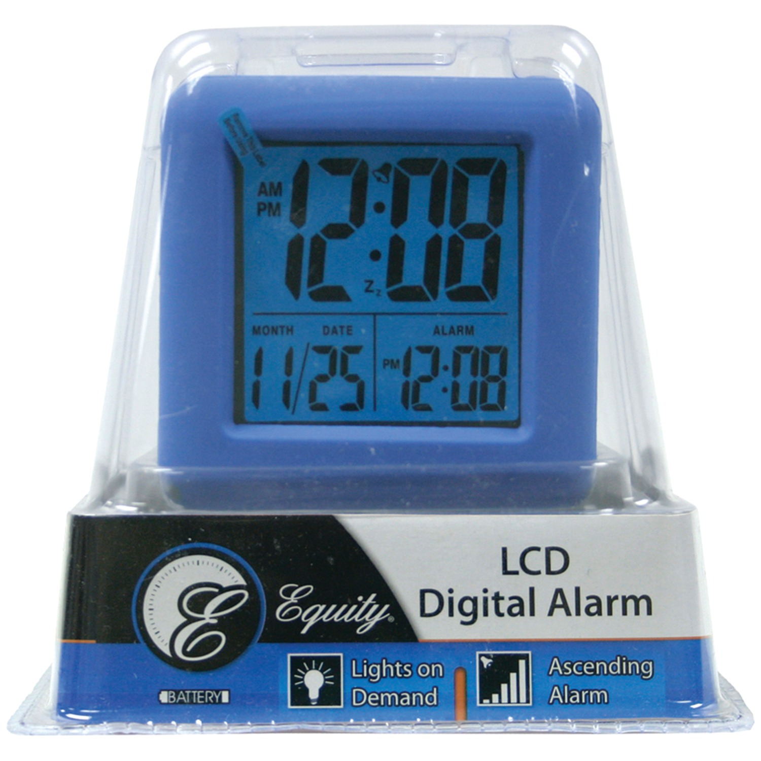 Equity by La Crosse 70902 Digital Cube Alarm Clock with On-Demand ...