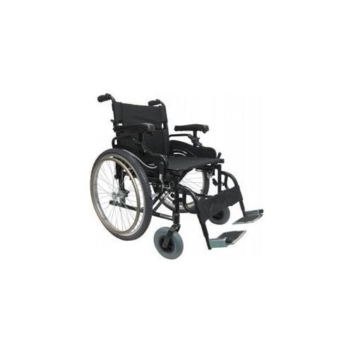 Karman Healthcare KM8520Q22W-HA Ultra Lightweight Bariatric Wheelchair-Black