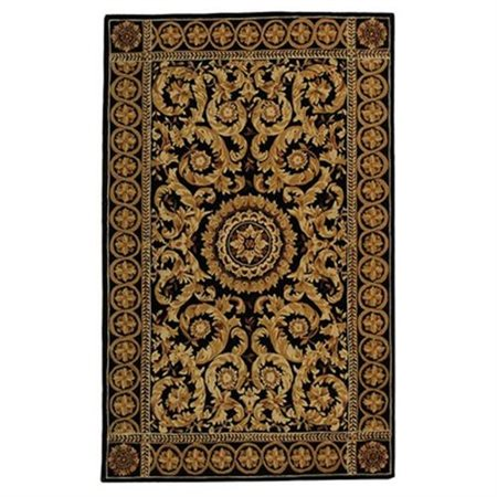 Safavieh Naples Andrie Hand Tufted Wool Area Rug, Black and Gold