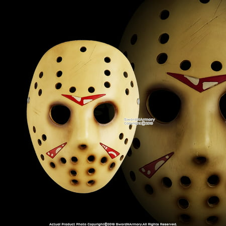 Halloween Resin Jason Mask Adult Costume Party Props Real Horror Movie Cosplay (Movie Props Masks)