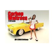 Carhop Waitress Brittany Figure For 1:18 Scale Models by American Diorama