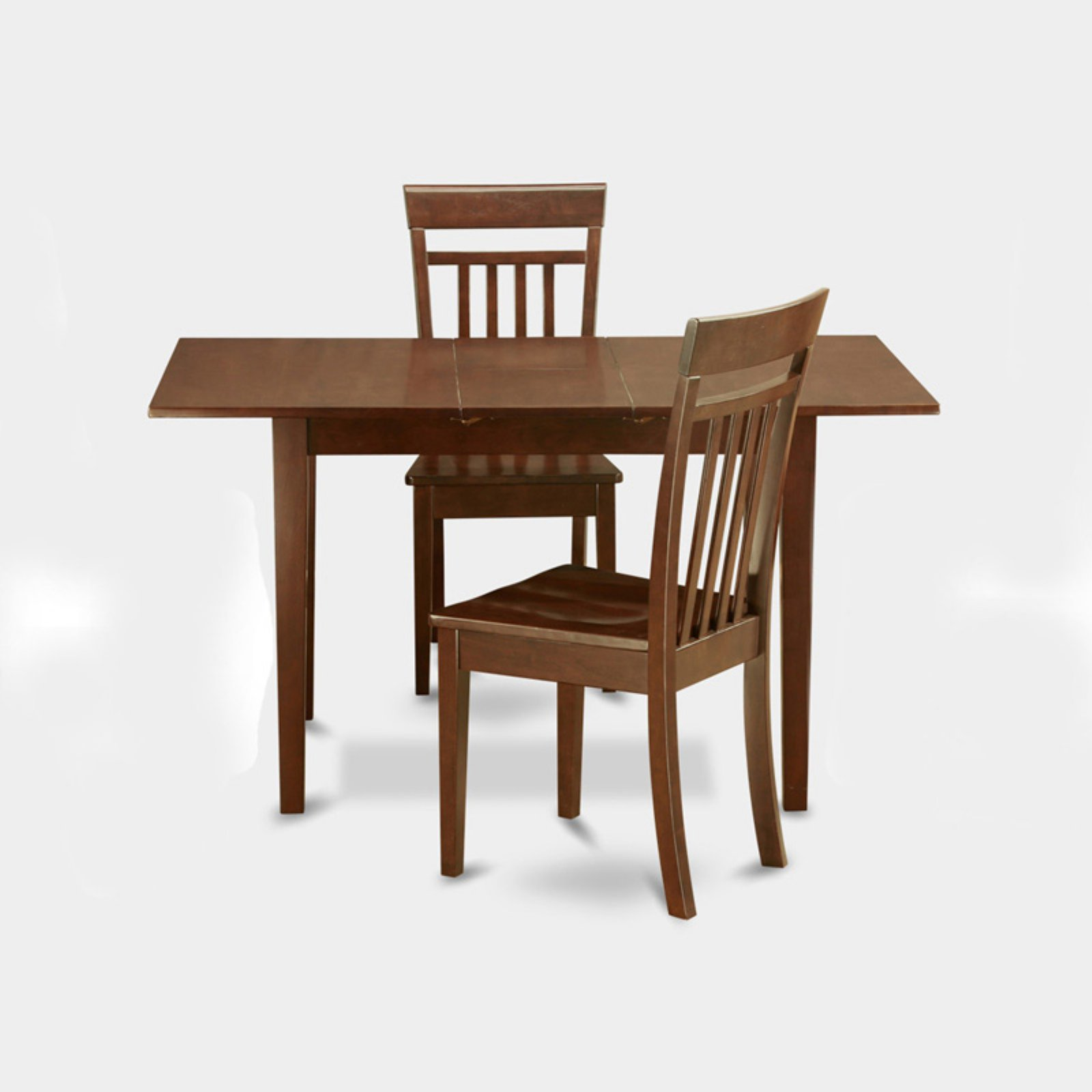 East West Furniture Norfolk 3 Piece Sheraton Dining Table Set