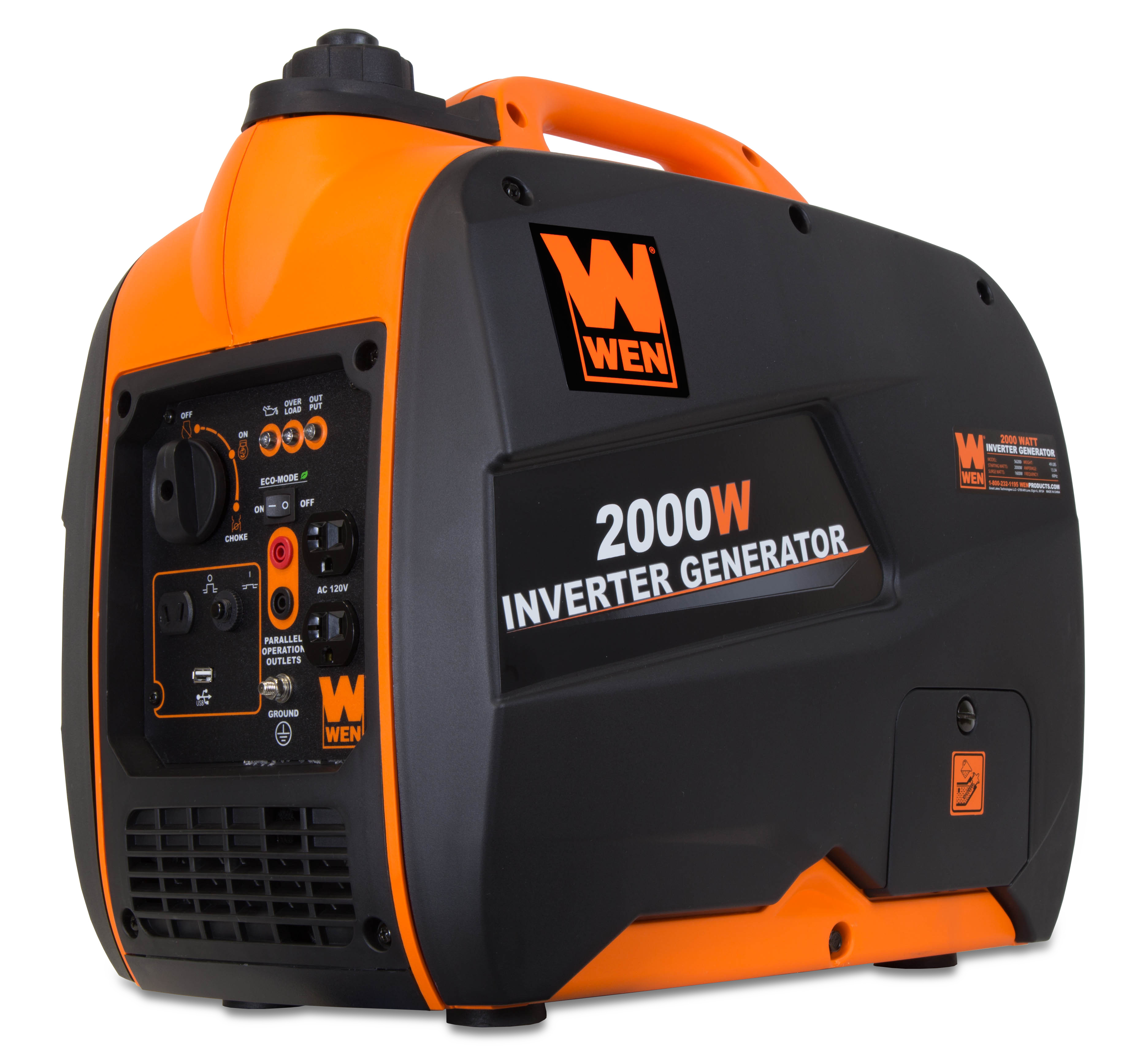 WEN 2000W Inverter Generator, CARB Compliant