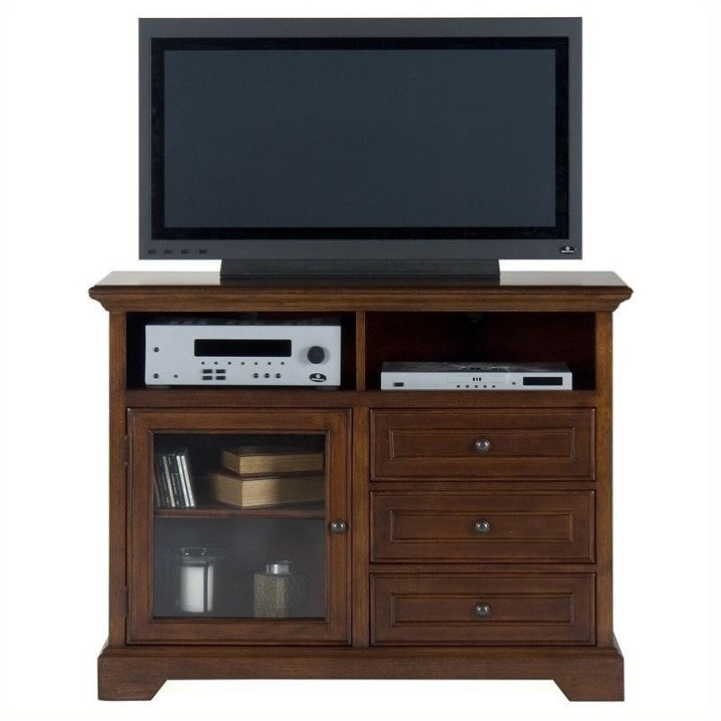 Jofran 042 Series TV Stand in Eureka Cherry Finish by Jofran