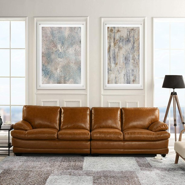 Clic Large Leather Sofa 111 W