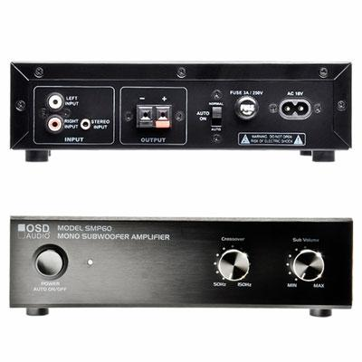 OSD Audio - SMP60 - OSD Audio SMP60 Amplifier - 40 W RMS - 1 Channel - Black - 100 W PMPO - 50 Hz to 150 kHz