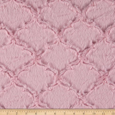Shannon Minky Luxe Cuddle Lattice Baby Pink Fabric By The Yard