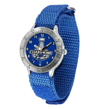 Youth 2019 Champions St Louis Blues Watch Adjustable Hook and Loop Band Louis Blues Heart Watch