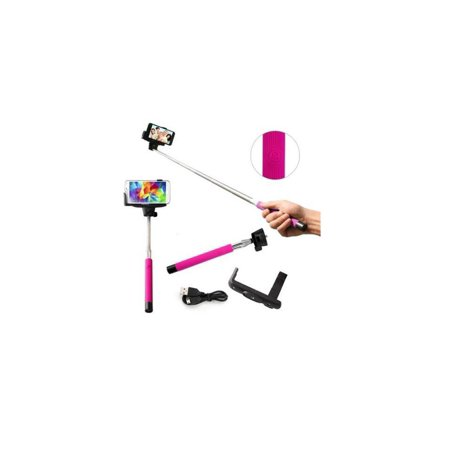 foldable monopod selfie stick extendable pink. Black Bedroom Furniture Sets. Home Design Ideas