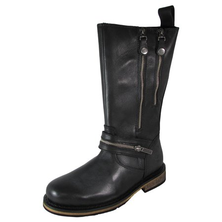 Harley Davidson Womens Sackett Zippered Motorcycle Boot Shoes (Boots Harley Davidson Harness)
