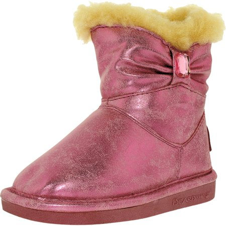 Bearpaw Girl's Robyn Toddler Faux Suede/Wool/Sheepskin Pink Ankle-High Boot - 7M - image 3 of 3