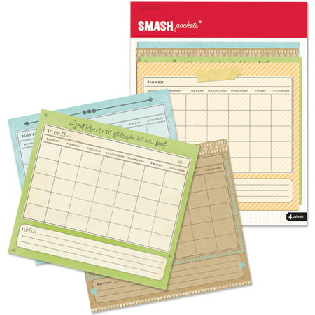 Calendar With Pockets (K & Company Calendar Smash Pockets, 4)