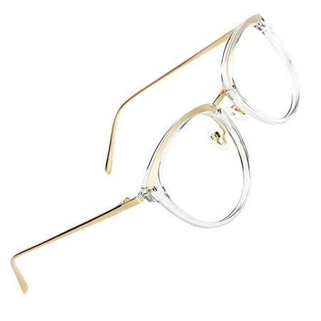 4ffed82b81 MVHT Vintage Round Metal Optical Eyewear Non-prescription Eyeglasses Frame  for Women - Walmart.com