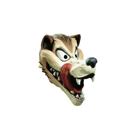 Hungry Wolf Adult Latex Mask Halloween Costume - Half Wolf Mask