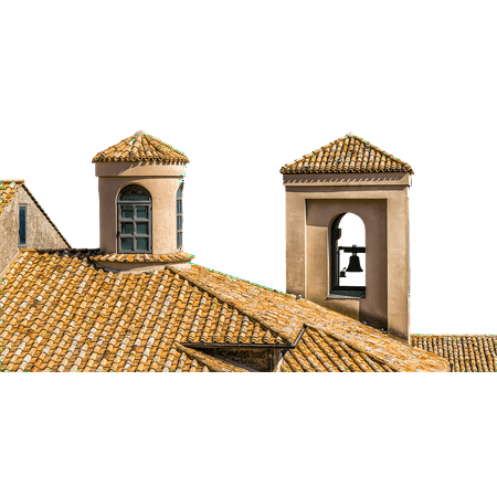 Canvas Print Bell Brick Home Italy Red Roof Tower Building Stretched Canvas 32 x 24