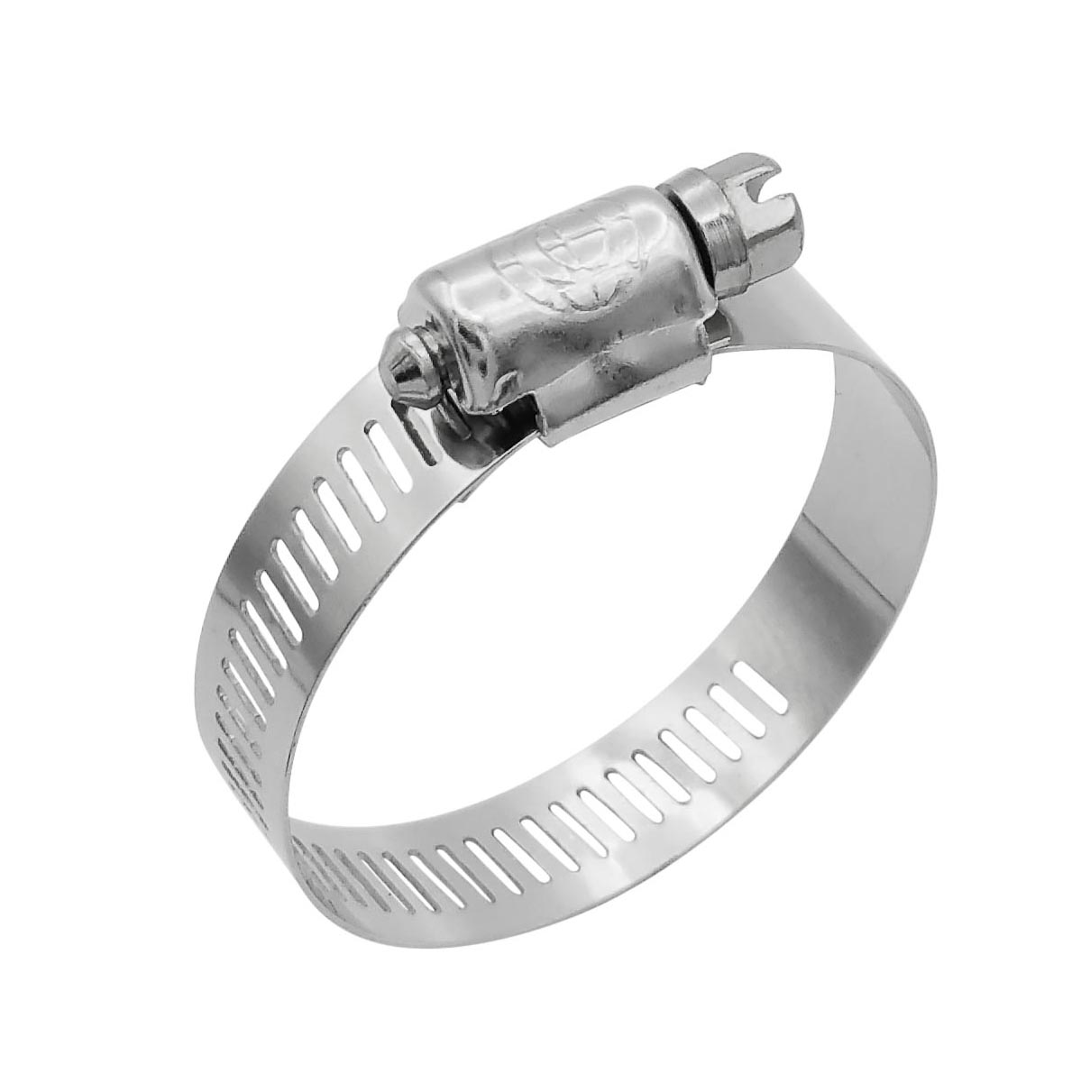 """Cambridge SAE Size 20 Worm Gear Hose Clamps, 10 pcs/Box. 1/2"""" Band Size, Min Dia 13/16"""", Max Dia 1-3/4"""", Exceeds 60 inch-pounds of torque. Stainless Steel Band & Housing, Zinc Plated Screw."""
