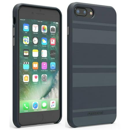 Case for iPhone 8 Plus, PureGear [Midnight Blue] SoftTEK Slim ...