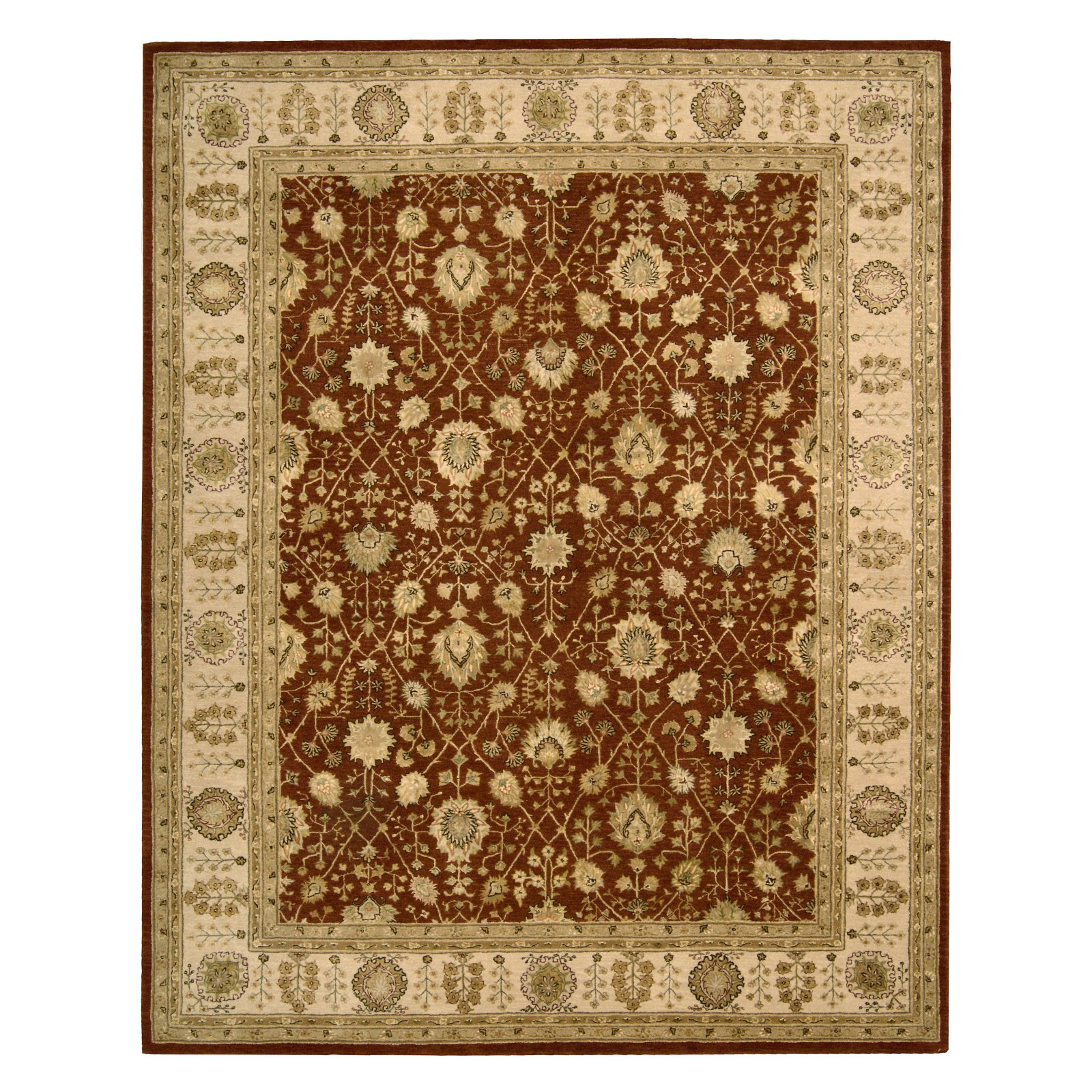 Nourison 3000 3102 Area Rug Rust by Overstock