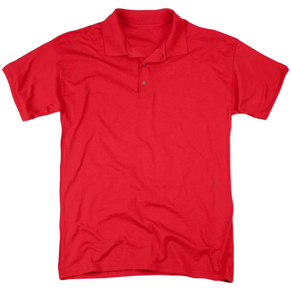 Hot Stuff On The Sun (Back Print) Mens Polo Shirt