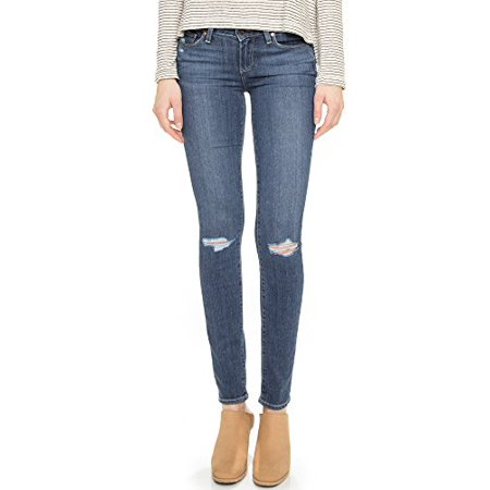 Paige Denim Women's Transcend Verdugo Skinny Jeans, Quinnley Destructed,