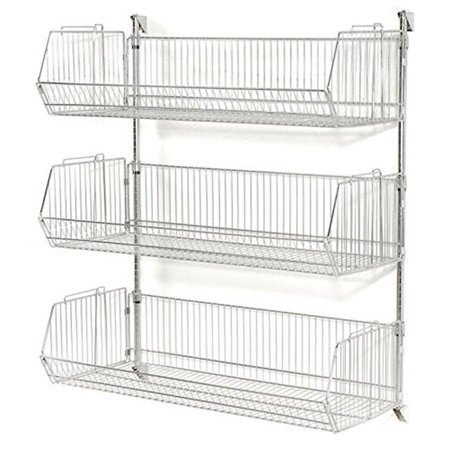 Nexel Industries WMB23209 Chrome Basket Shelving Unit with 9 in. Adjustable Wire Baskets - 36 x 20 x 34 in. Nexel Chrome Wire Shelf