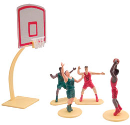 Basketball Classic 5 pc Set Cake Adornments 1 set