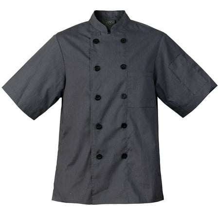 Chef Code Lightweight Ultra Soft Short Sleeve Chef Coat (Chef Revival Black Jacket)