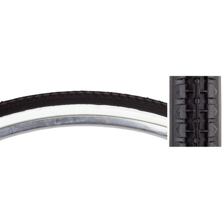 Sunlite Tire 26X1-3/8 Black/White Street K103